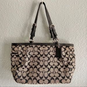 COACH Black and Brown Signature Tote